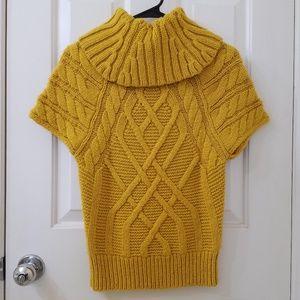 LOFT Mustard Yellow Knitted Chunky Sweater